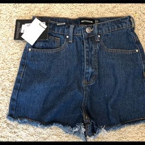 Mud wash Shelby high waisted denim shorts